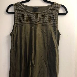 ANN TAYLOR OLIVE GREEN SHELL SMALL